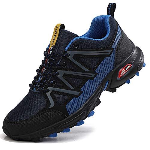 ASTERO Zapatillas de Deportes Hombre Running Zapatos para Correr Gimnasio Calzado Deportivos Ligero Sneakers Transpirables Casual Montaña Calzado Talla 41-46 (Azul Oscuro, Numeric_43)