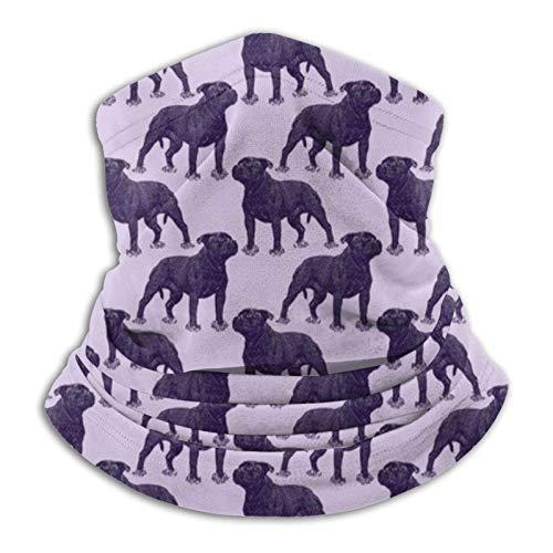 Posing Staffordshire Bull Terrier Bandana morada M-a-s-k Headwear Braga para el cuello, pasamontañas para protección contra el polvo, el viento, el sol, hombres y mujeres
