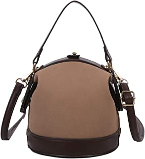 TENDYCOCO Women PU leather Designer Handbags Tote Purses Shoulder Bucket Bags for Women Girls Outdoor Shopping