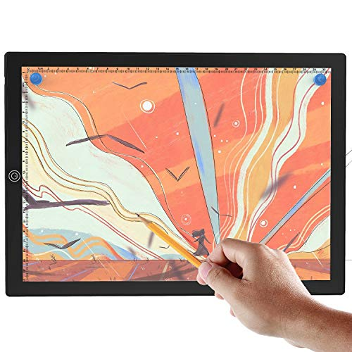 A4 Tracing Light Box, Magnetic Portable LED Tracing Light Pad for Painting, Drawing & Art Supplies, Ultra-Thin, Adjustable, Scale, USB Power
