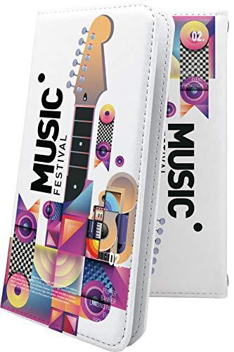 スマートフォンケース・ZenFone5Q ZC600KL・互換 ケース 手帳型 音楽 音符 楽器 フェス ハート love kiss キス 唇 ゼンフォン5q ゼンフォン5 手帳型スマートフォンケース・クラシック モノトーン classic zenfone 5q 5 q ユニーク おもしろ おもしろケース [3jd28453w9J]