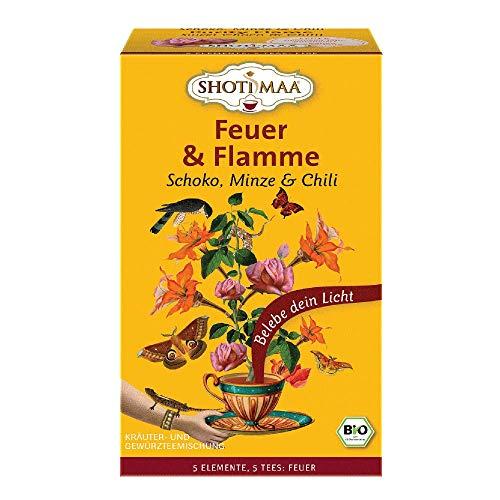 6 x Shoti Maa Bio Tee | Feuer & Flamme | Schoko, Minze & Chili | Gewürz- und Kräutertee | Ayurveda Tee | 6 x 16 Teebeutel (96 Teebeutel)