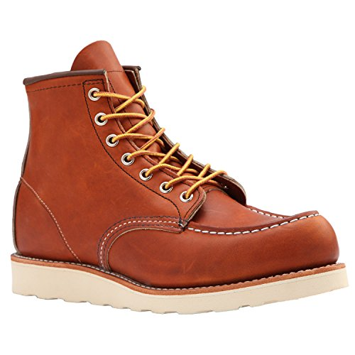 Red Wing Moc-Toe Classic Boots + Free tin of Mink Oil (8 UK, Oro-Legacy 875)