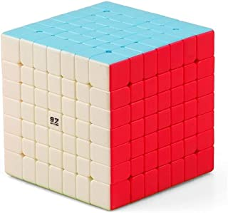 7X7 Colorful Stickerless Magic Cube Brain Teaser Releasing Pressure Puzzle Speed Cube Toy Gift