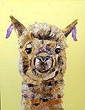 DIY Pintar por números Linda Alpaca DIY Paint by Number Kits Decoración para el hogar Imagen de Pared Valor Regalo