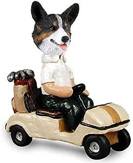 Welsh Corgi Cardigan Golf Cart Doogie Collectable Figurine