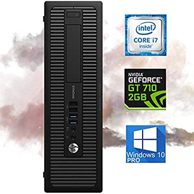 HP EliteDesk 800 G1 Small Form Desktop Computer - Intel i7-4770, 32GB Ram, 1TB SSD + 500GB HDD, WI-FI, NVIDIA GT 710 HDMI 4K Support, VGA - Windows 10 Pro (Renewed)