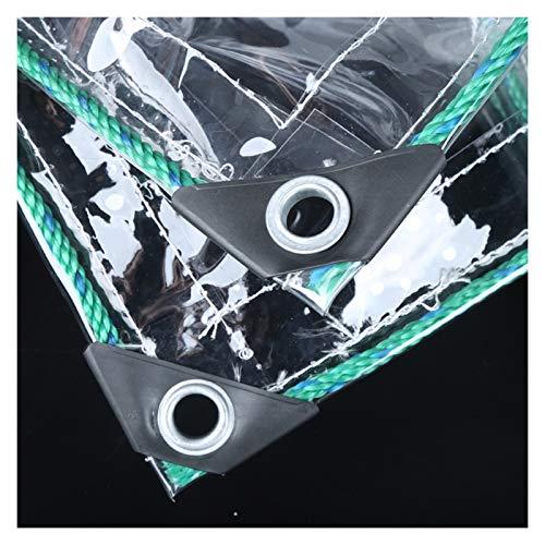 YYFANG Lona Transparente con Ojales,450g / M² Lona Impermeable De PVC Transparente para Jardín La Cuerda De La Cubierta Impermeable del Dosel Plegable De La Planta Incluye Cubierta Plástica