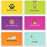 48 Pack Inspirational Sympathy Cards Bulk Box with Envelopes for Kids, 6 Cute Animal Designs, 4x6