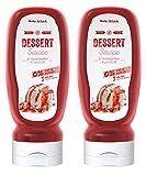 Body Attack Dessert Sauce - Vegan und Low Carb - (Strawberry, 2 x 320 ml)