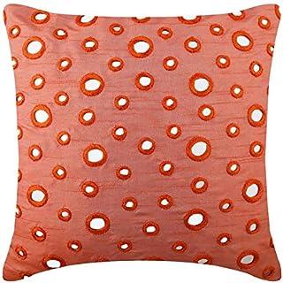 Peach Orange Couverture D'Oreillers, Miroir Taies D'Oreiller, oreiller jet couvre 45x45 cm, Soie Oreillers Couvre Pour Can...
