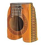 Meiya-Design Bañador para Hombre con diseño de Roseta de Guitarra clásica con Bolsillo Multicolor Multicolor XL