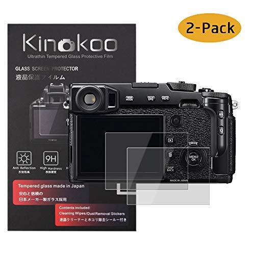 kinokoo Película de Vidrio Templado para Fuji X-Pro2 Crystal Clear Film Protector de Pantalla Fujifilm X-Pro2 sin Burbujas/antiarañazos (Paquete de 2)