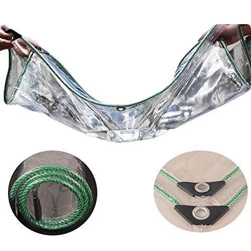 YiNuo Persenning Transparent Wasserdicht Schwerer Kunststoff-Tuch-Fenster Regen Schutz feuchtigkeitsfest Pad Thick PVC, 22 Größen Plane (Color : Clear, Size : 3x3m)