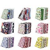 4' x 4' (10cmx10cm) 100PCS BcPowr Craft Fabric, Craft Patchwork Bundle Top Cotton Fabric Squares Lint DIY Sewing Scrapbooking Quilting Dot Pattern Artcraft