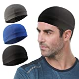 Go-sport 3 Pack Cooling Skull Cap Helmet Liner Sweat Wicking Cycling Running Hat for Men W...