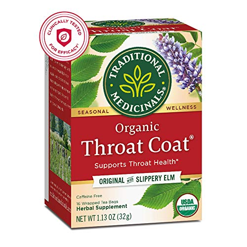 Traditional Medicinals Organic Throat Coat Seasonal Tea, 16 Tea Bags (Pack of 6)