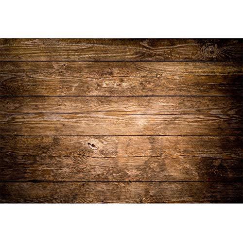 YongFoto 3x2m Vinilo Fondo de Fotografia Antiguo Grunge Vendimia Rústica Retratamiento Textura Piso De Madera Marrón Telón de Fondo Photo Booth Infantil Party Niños Photo Studio Props