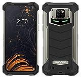 """Smartphone Incassable DOOGEE S88 Pro 10000mAh Batterie, Octa-Core 6 Go + 128 Go Android 10, Caméra Quad 21MP, 6,3 """"FHD + Corning Gorilla Glass, Charge sans Fil, Téléphone Portable IP68 NFC GPS Noir"""