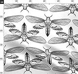 schwarz und weiß, Schmetterling, Käfer, Insekt, Motte,