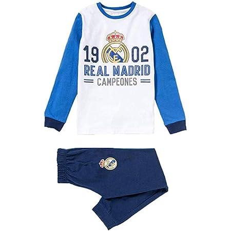 Pijama Real Madrid niño Invierno Terciopelo Tallas 6 a 16 (6 ...