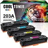 Cool Toner 4 Cartouches Compatible pour HP 203A 203X CF540A CF540X CF541A CF542A CF543A pour HP...