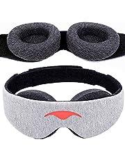 Manta Sleep Mask - Manta Sömnmask - 100% Mörkläggningsmask - Noll Ögontryck - Justerbara Ögonkoppar - Garanterat Djupaste Möjliga Vila - Perfekt Sovmask för Lättsovare, Resande och Powernappare