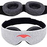 Manta Sleep Mask - 100% Blackout Eye Mask - Zero Eye Pressure - Adjustable Eye Cups - Guaranteed Deepest-Possible Rest - Perfect Sleeping Mask for Light Sleepers, Travelers, Midday Nappers