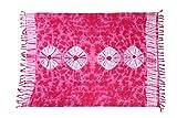 Ca 60 Modelle Sarong Pareo Wickelrock Strandtuch Tuch Wickeltuch Handtuch Bunte Sommer Muster Set + Gratis Schnalle Schließe (Pink BP)