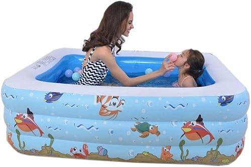Bdclr Piscine Gonflable pour Enfants, Trois étages 150  108  48cm, adaptée aux Enfants de Plus de Trois Ans,Inflatablemouthpackage