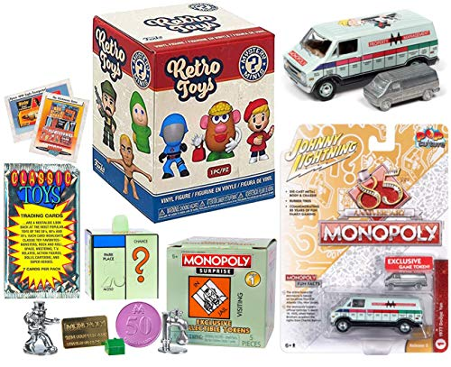 Throw Toy Back Retro Mystery Minis Bundled with + Vintage Toy Trading Cards...