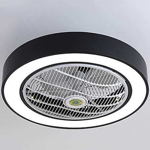 Ceiling Fan with Lights, Invisible Acrylic Blade Metal Shell Ceiling Light Fan, LED Remote...