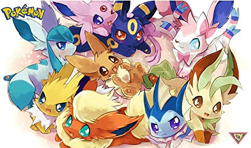 Eeveelutions 01 Board Game Playmat for Pokemon Cards Games Mouse Pad Play Mat