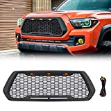 VZ4X4 Front Grill Mesh Grille Fit for Toyota Tacoma 2016, 2017, 2018, 2019, 2020 (WILL NOT WORK WITH FRONT SENSOR/TSS)