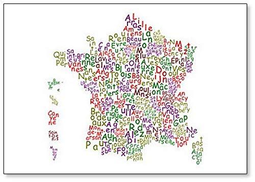 Aimant de réfrigérateur Préfectures Départements Français Lettres