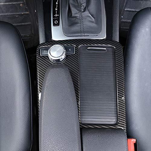 Für Benz C-Klasse W204 2008–2014 Auto ABS Mittelkonsole Becherhalter Rahmen Trim für E-Klasse W212 2010–2011 LHD