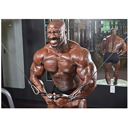 ASLKUYT Bodybuilding Gym Muscle Motivational Man Woman Wall Art POSTER Pintura decorativa Pintura de pared -24x32 IN Sin marco