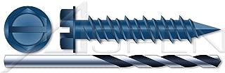 1200pcs Bulk//Wholesale Carton Blue 1//4 X 2-3//4 Phillips Flat Head Concrete Screws Ships Free in USA