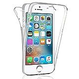 HongMan 360°Full Body Funda para Apple iPhone 6 Plus / 6s Plus, Ultra Slim Doble Cara Carcasa Protector Transparente TPU Silicona + PC Dura Resistente Anti-Arañazos Protectora Case Cover