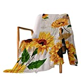 Throw Blanket Sunflower Super Soft Cozy Flannel Blanket for Women Adults Girls Kids Lightweight Oversized Bed Throw for Bed Couch Sofa Living Room Office 50 x 40 Inches