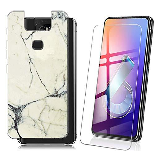 QFSM Schutzhülle + Gehärtetes Für ASUS Zenfone 6 ZS630KL 2019 (6.4