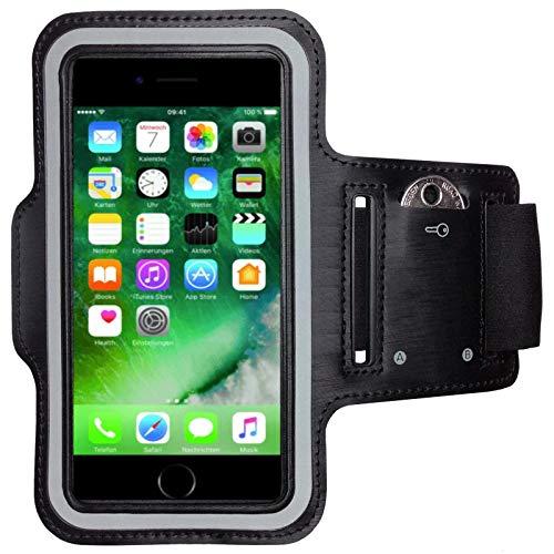 CoverKingz Sportarmband für Apple iPhone 7 / iPhone 8 Armtasche mit Schlüsselfach iPhone 7/8 - Sport Laufarmband Handy Armband Schwarz