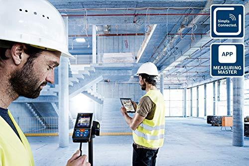 Bosch Professional télémètre laser GLM 120 C (caméra intégrée, transfert de données Bluetooth, portée :0,08 – 120 m, dragonne, câble micro-USB et chargeur, housse de protection)