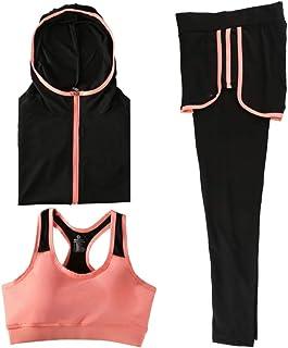 Yoga Wear 3-pieces Set Sport Suits Women's Sweatsuits Yoga Jogging Tracksuits