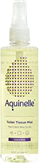 Aquinelle Toilet Tissue Mist, Eco-Friendly & Non-Clogging Alternative to Flushable Wipes Simply Spray On Any Folded Toilet Paper (8.25 oz Island Mist)