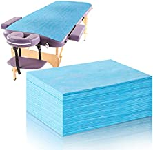 20 Pieces Disposable Bed Sheets Bed Cover Spa Massage Table Sheet Waterproof Bed Cover Flat Sheets Non-woven Fabric, 31 x 67 Inches (Blue)