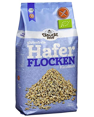 Fiocchi Di Avena Senza Glutine Bio 1Kg 'Integrale' 1Kg | Fiocchi Avena Bio Certificata Senza Glutine 100% Biologico Senza OGM - Senza Conservanti - Senza Zucchero - Avena Integrale