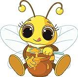 Autoaufkleber Biene mit Honig thumbnail