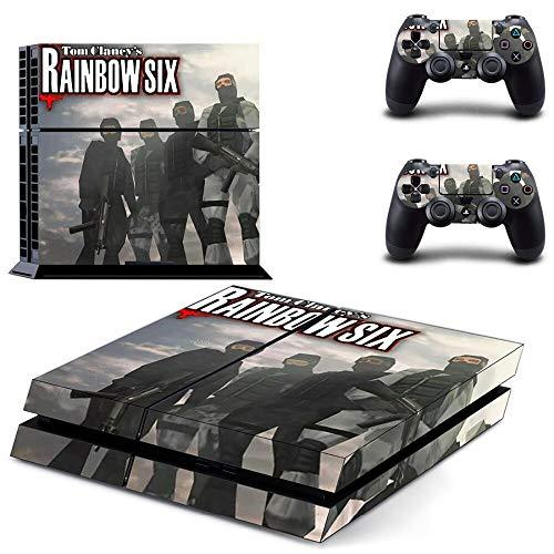 TAOSENG Rainbow Six Siege Ps4 Skin Sticker Decal per Playstation 4 Console e 2 Controller Skin Ps4 Sticker Vinile