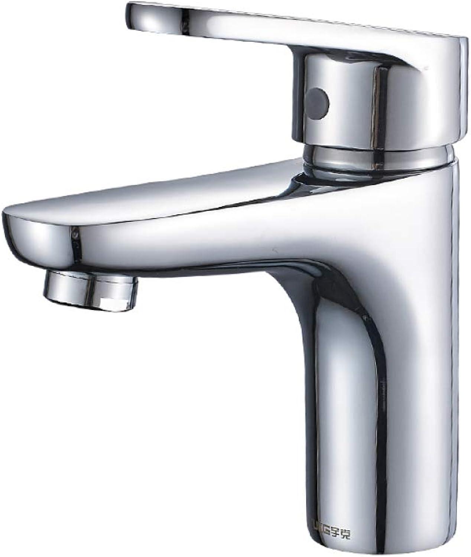 WJZ Bathroom Wash Basin Single Cold Water Single Hole Faucet Bathroom Wash Basin Wash Basin Copper Faucet,1,1